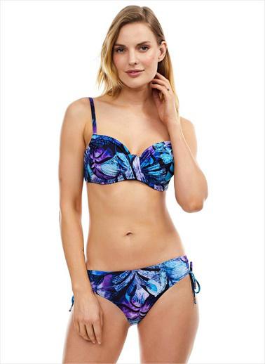 Ayyıldız Kadın Kapsız Bikini Takımı 40665 Mavi